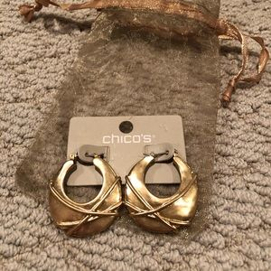 Chico's Gold Earrings NWT